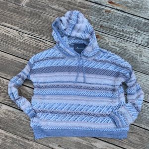 Paper Crane fuzzy hooded sweater